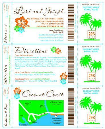 103 best Wedding Invites images on Pinterest Invites, Boarding - boarding pass template