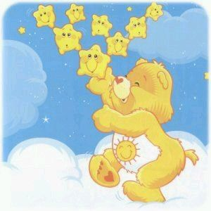 Care bears- this was my favourite bear. Sunshine bear.
