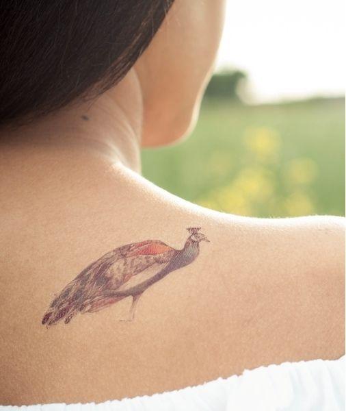 2 #tatouages #temporaires PAON de Tattster sur DaWanda.com #paon