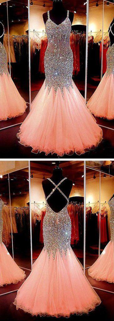 Beauty sweetheart neckline mermaid open back beading prom dress pageant formal dress