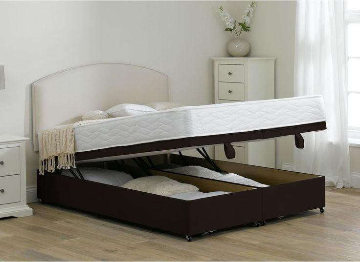 Halliday Pocket Spring Ottoman Bed Mocha | Dreams - Divan bed with copper wrapped bottom?