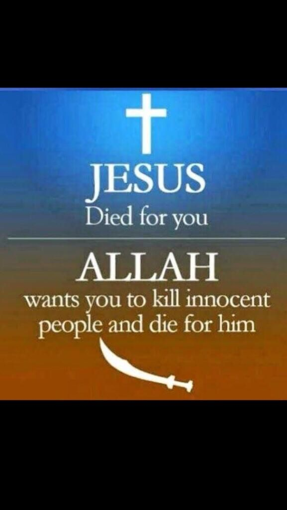 Truth. Allah is the moon god that Muhammed and his family worshiped.  I doubt he knew anything about Abraham or Jesus.  They certainly don't believe in a loving Creator God.  Their god is destructive and they promote intimidation, violence.  Just try to leave Islam.   It is undeniably in the Qur'an.that anyone who isn't Muslim is an Infidel.  My God let's me choose Him or not.
