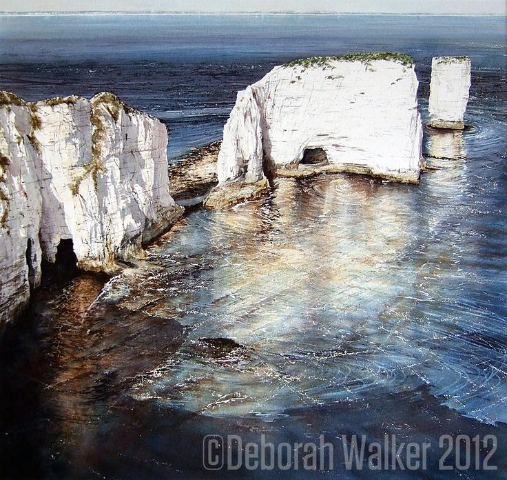 "Deborah Walker, ""Evening Sun"" watercolor"