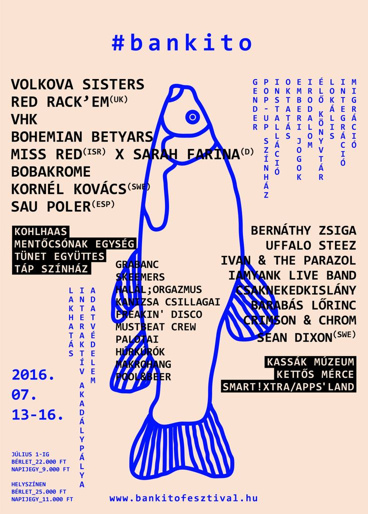 '16 Bánkitó, Cultural & Music Festival 'Poster