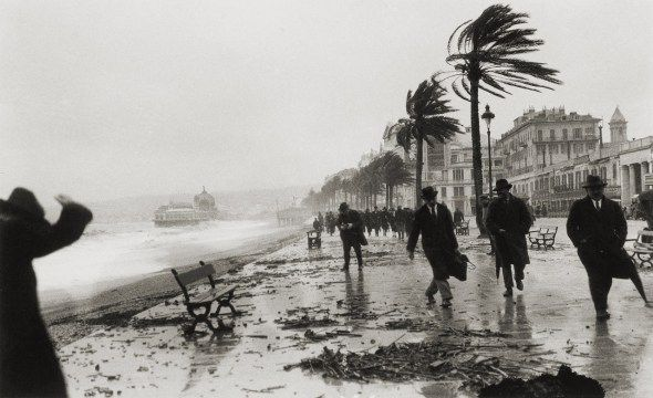 Storm in Nice, France, 1925. Photo by Jacques-Henri Lartigue