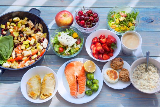 health fitness food in lunch boxes set meal for the whole day