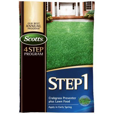 $66.99 Scotts Lawn Pro Step 1 Lawn Fertilizer + Crabgrass Preventer, Covers 15,000 Sq. Ft.: Model# 33160 | True Value After $50.00 rebate the four step treatment is $168.46.