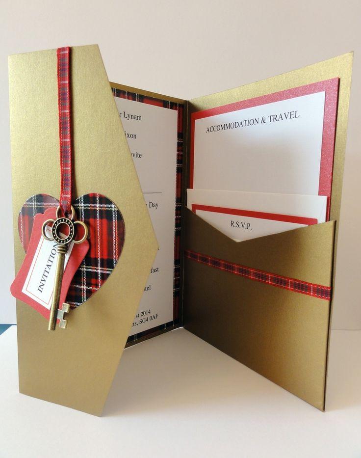 28 best wedding invitations images on pinterest wedding for Pocketfold wedding invitations scotland