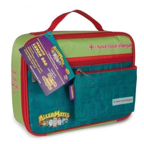 Un sac lunch idéal pour les enfants allergiques. Sympa, coloré, il permet de bien attirer l'attention des enseignants, surveillants... sur les problèmes d'allergies de l'enfant et de bien séparer son lunch de celui des autres.