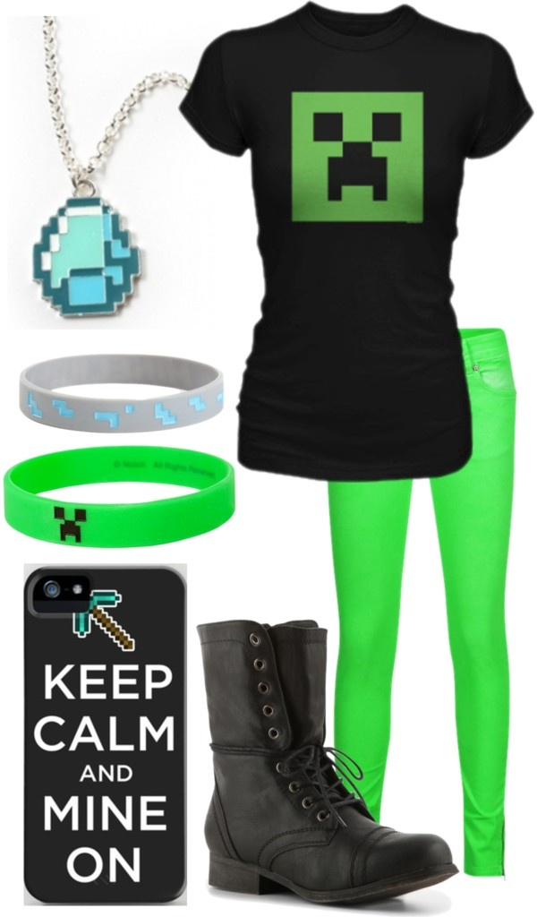 """Minecraft"" by onedirectionlover99-872 ❤ liked on Polyvore"