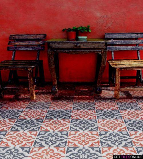 Moroccan Red Matt 200x200 (Code:01327) - Get Tiles Online