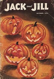 October 1953 - Jack and Jill magazine with Halloween cover.
