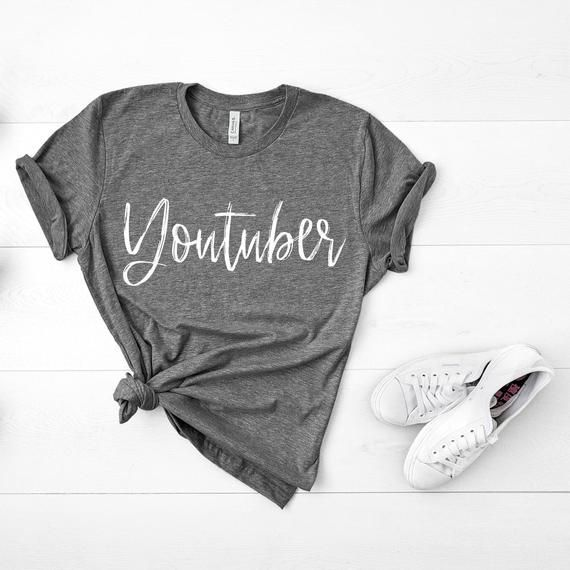 Download Youtuber Graphic Tee Youtuber Shirt Youtube Tee Youtube Etsy Graphic Tees Shirts Tees