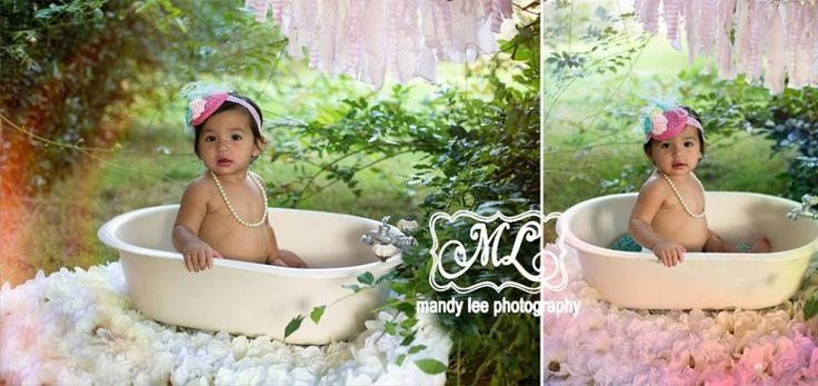 On location baby girl photography session, in a mini bathtub! https://www.facebook.com/pages/Mandy-Lee-Photography/113937515377935