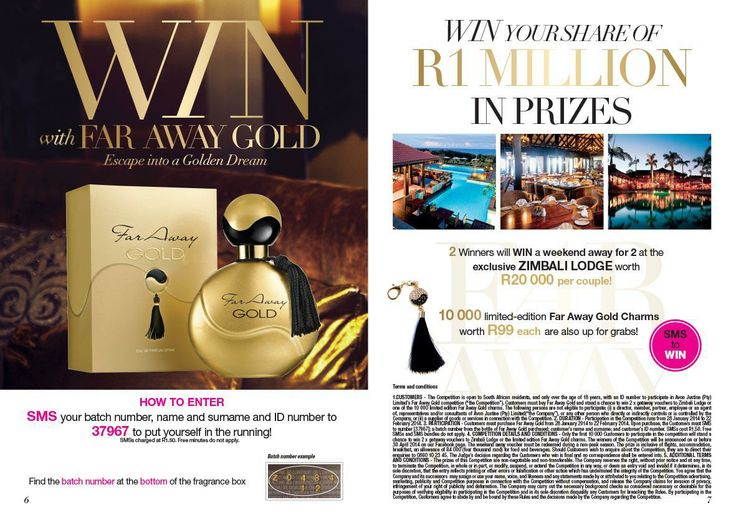 Buy the Far Away Gold and stand a chance to win a trip for 2. Place your order today email me melisa.davids@gmail.com