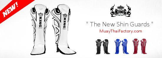 Muay Thai gear Top King Muay Thai shin guards http://www.muaythaifactory.com/newproducts/
