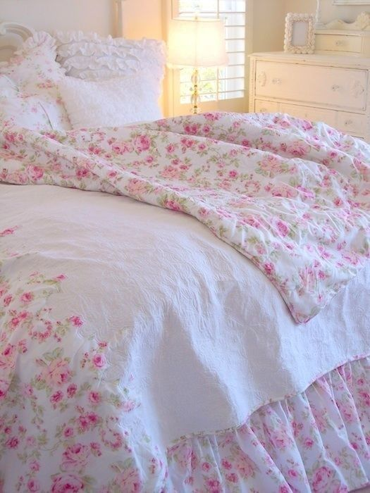 516 best SHABBY CHIC ~ BEDROOM images on Pinterest | Beds, Shabby ...