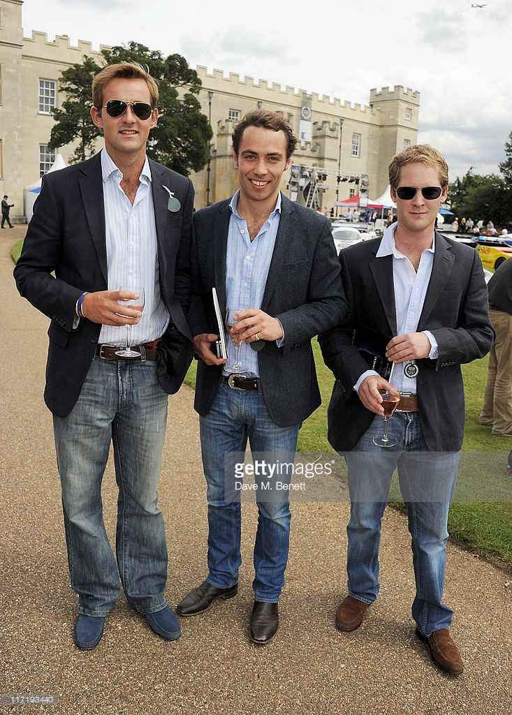 Ted Innes Ker, James Middleton and George Percy attend the Salon Prive in association with Audemars Piguet at Syon Park on June 24, 2011 in London, England.