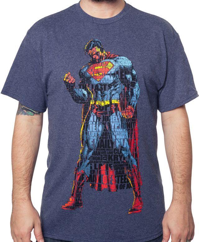 Typographic Superman T-Shirt - Superhero T-Shirt