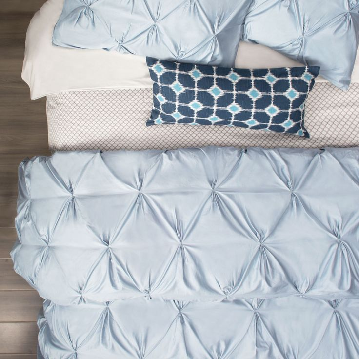 French Blue Valencia Pintuck Duvet Cover Twin Twin Xl