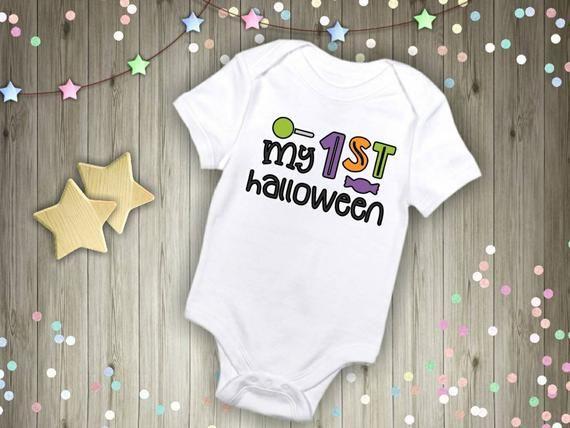 1st Halloween Baby Bodysuit My First Halloween ONESIE\u00ae Newborn Baby Gift