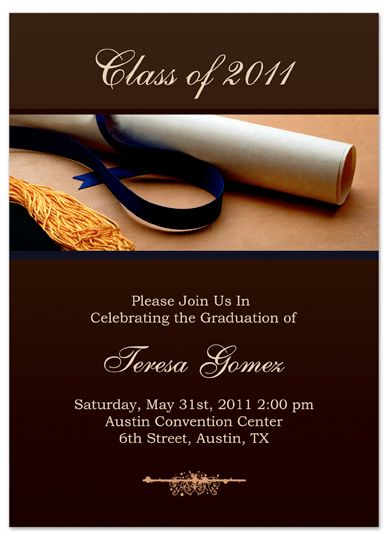 Custom Graduation Invitations 2017