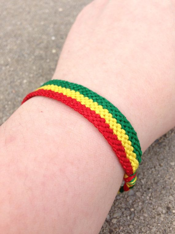 The Ethiopian Flag Friendship Bracelet by LAWSeME on Etsy, $7.00