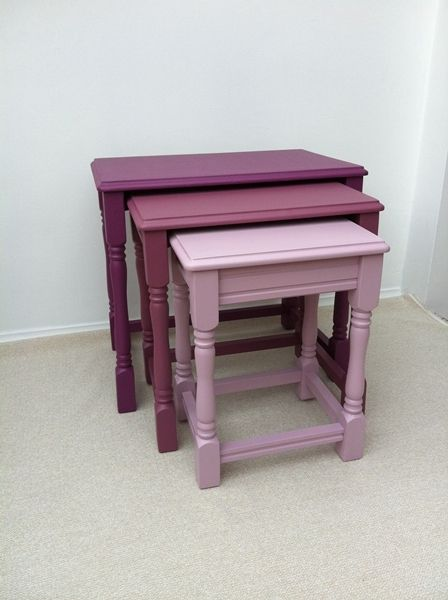 Love the colours Nest of tables idea