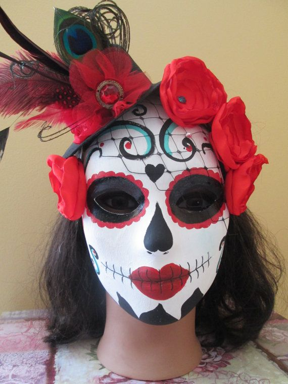 Day of the Dead Wedding Mask Dia de los by NakedOrchidGarters