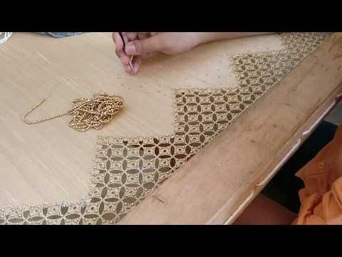 Aplic cut work blouse design - Full process - YouTube