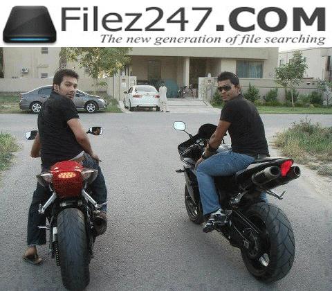 Umer Akmal on heavy bike in Lahore.!!!