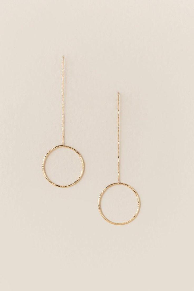 Lena Chain Circle Drop Earring