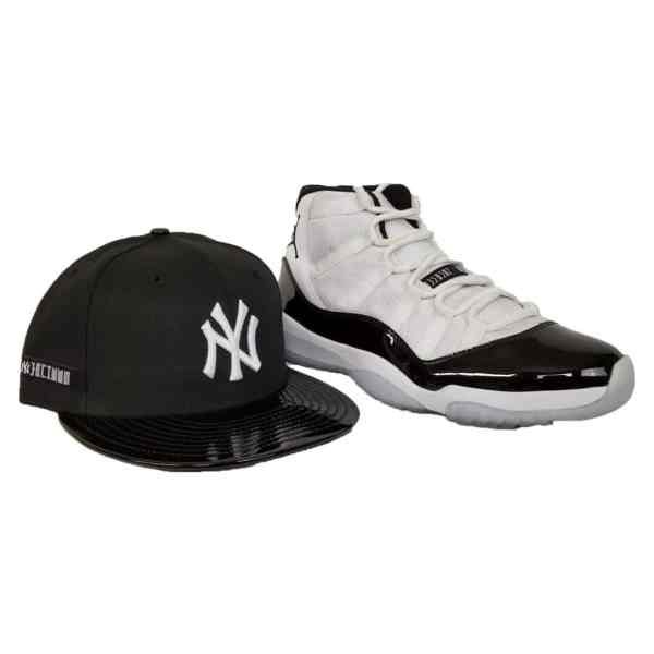b96324b4d13 Matching New Era New Era Yankees Fitted Hat for Jordan 11 Black white  Contord