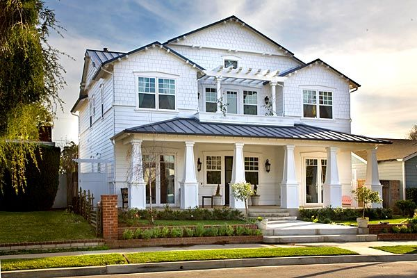 Home of the week update porch roof parks and mars for Craftsman beach house