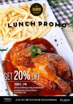 Lunch time? Come to our place and get 20% off by showing your working id card or your business card 11am-3pm!   More info here https://twitter.com/stark_beer
