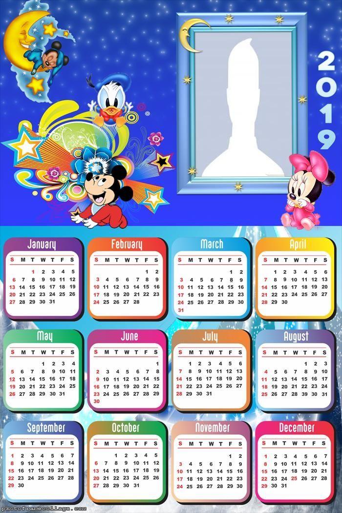Disney Baby Calendar 2019 Frame Photo Montage Free Online Disney