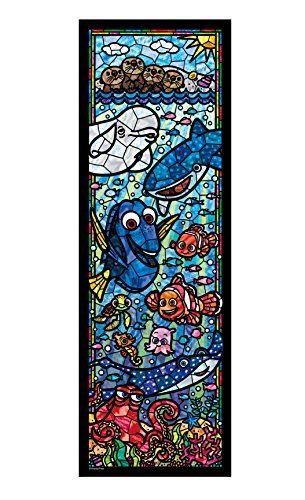 456 pieces jigsaw puzzle Nemo and Dory stained glass tightly series [stained art] (18.5x55.5cm)