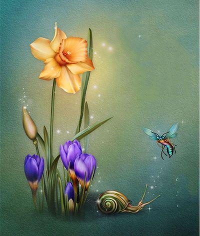 "Barnali Bagchi ~ ""Hope Of Spring Background No. 2."""