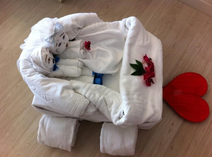 1000 images about decoraciones con frutas y atenciones - Decoracion con toallas ...