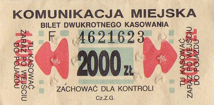 Public transport ticket