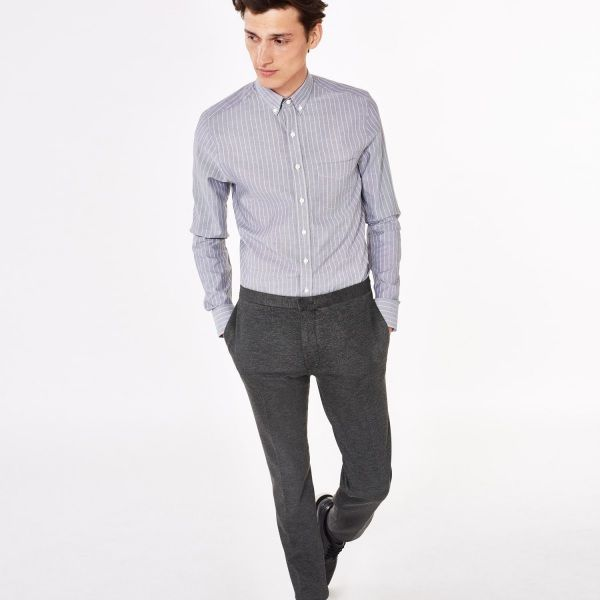 GANT Diamond G - Royal Oxford Tattersall Fitted Shirt Midnight Sky for Men's | Official Site