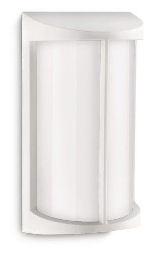Philips luminaire extérieur applique murale Pond: Couleur : Blanc - Taille : 14,1 x 10,1 x 27 Matiere : Fonte d'aluminium - Polycarbonate -…