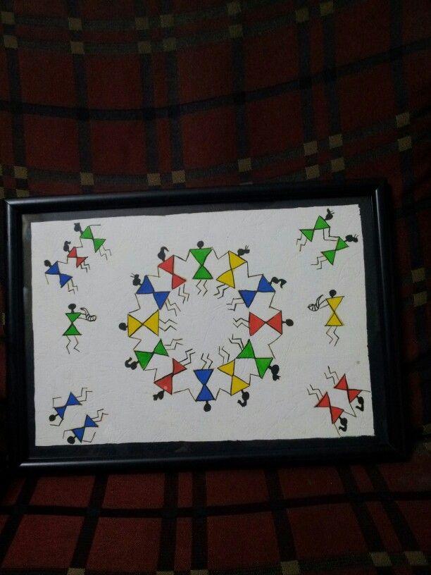 My painting...warli art.