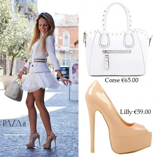 #outfit #totalwhite #pumps #fashion #look #moda #estate2013 #pazit #shopping : #borsa http://www.paza.it/produkt/4966,corse-white-bag #scarpecontacco http://www.paza.it/produkt/71,lilly-nude-pumps *spedizione gratuita in tutta Italia* shipment to european countries €10(send order to info@paza.it)