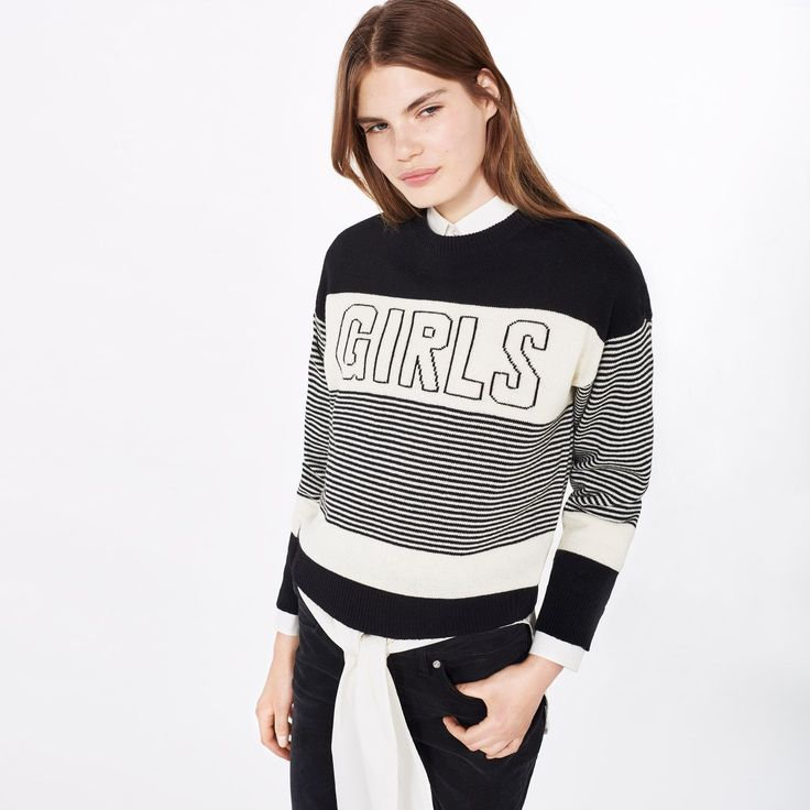 GANT Rugger - Girls Knit Sweater Black for Women's | Official Site