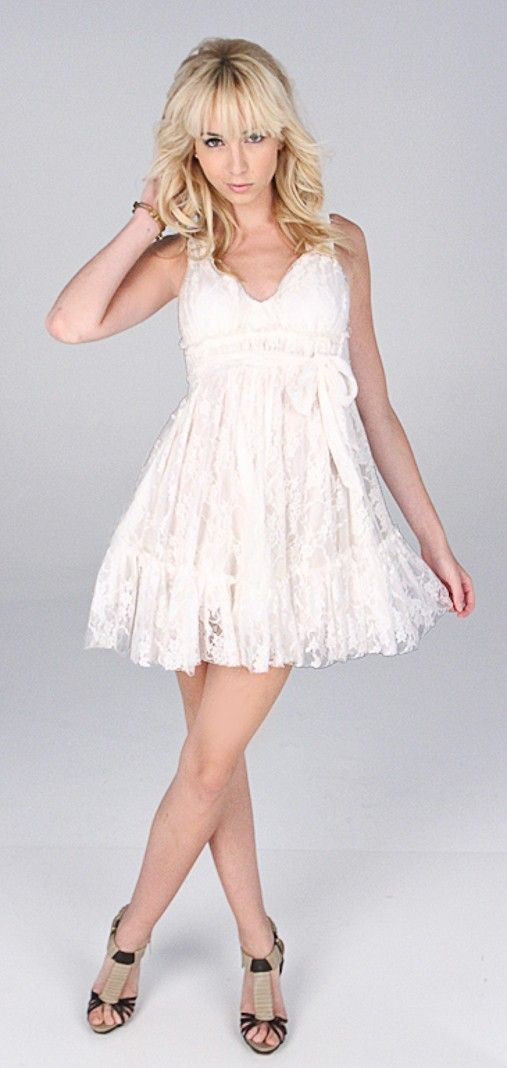 White Lace Baby Doll Dress Future Mrs Brown