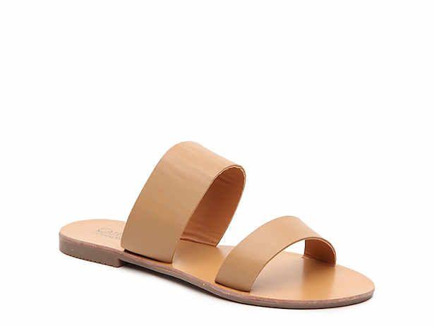 Beige \u0026 Black Flat Sandals | DSW