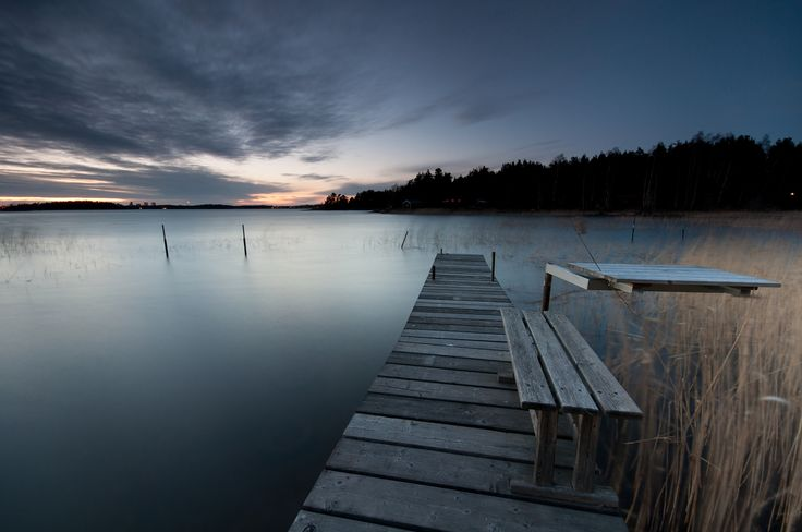 Pics Photos Wallpaper Sweden Forest Trees Lake Beach Wooden Bridge