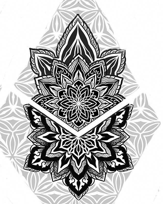 Mandala Tattoo Drawing Mandalatattoo Tatowierung Best Geometrie Tattoo Mandala Tattoo Mann Tattoo Hals