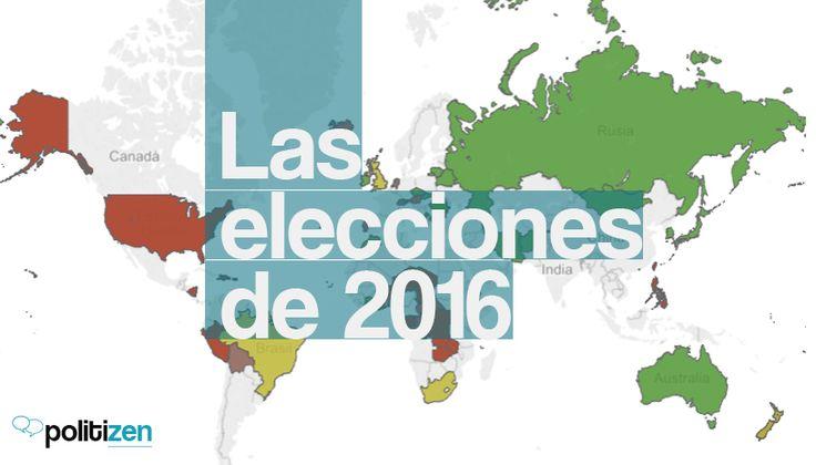 Consulta el mapa electoral mundial con información sobre elecciones presidenciales, legislativas, locales y referéndums que se celebraran durante el 2016